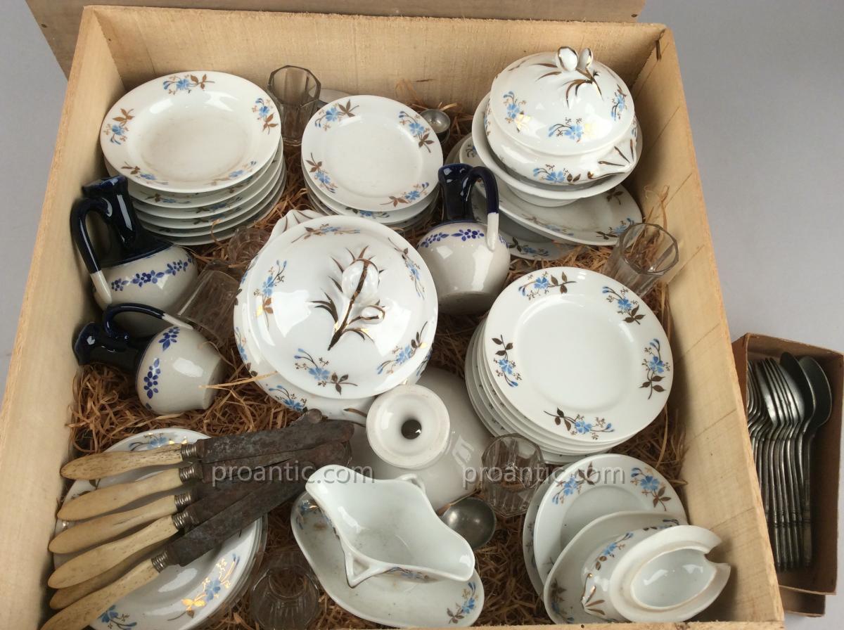 Dinette Porcelain Paris Middle Of The Nineteenth Century