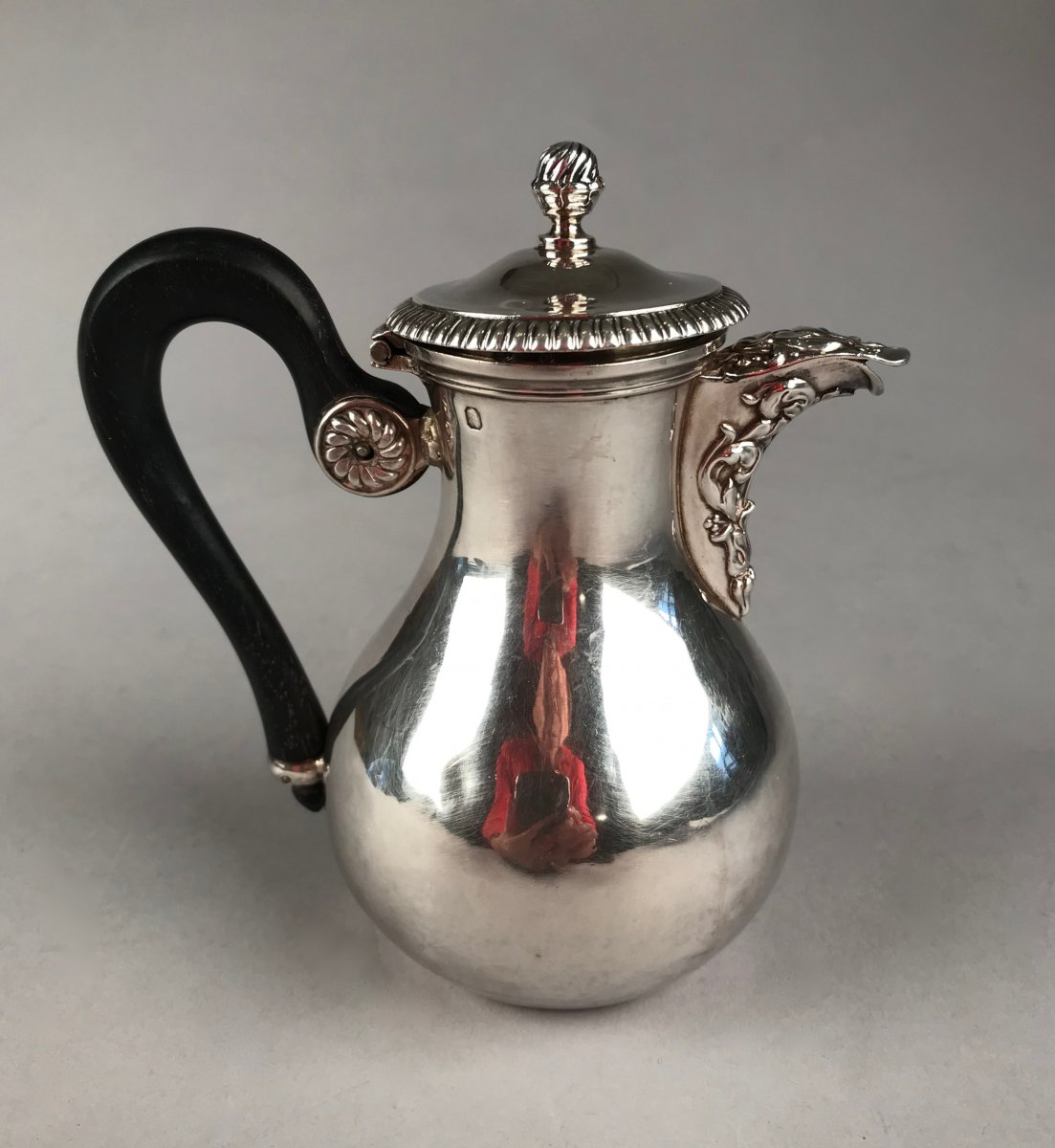 Small Egoist Jug With A Flat Bottom In Silver 1833-1838