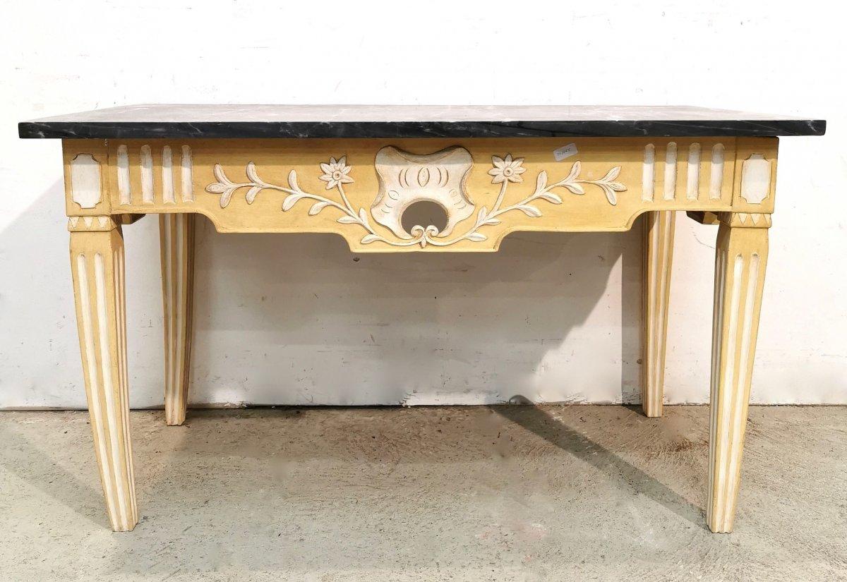 Console   Provençale En Noyer Repeint d'époque Louis XVI  Directoire