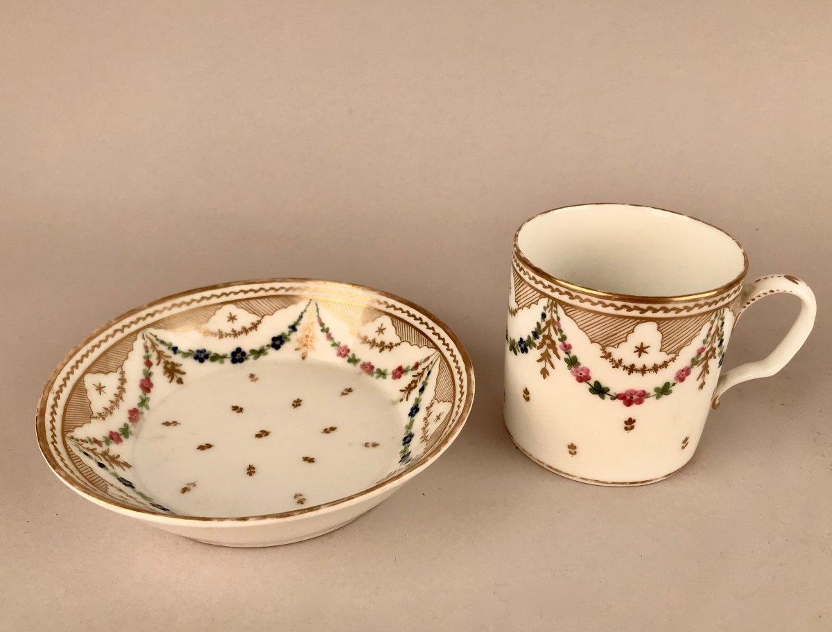 NAST. Tasse En Porcelaine XIXème siècle-photo-2