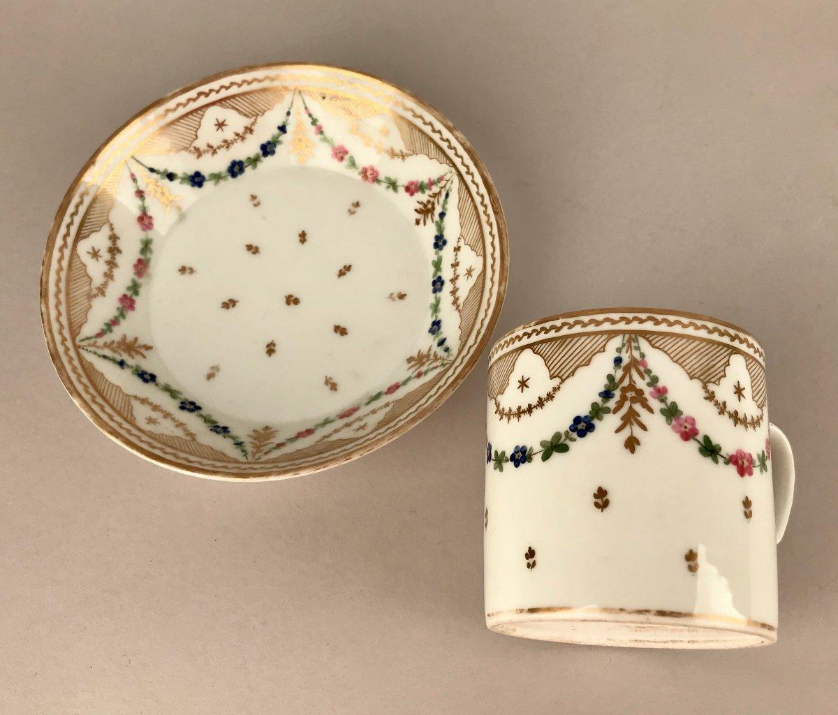 NAST. Tasse En Porcelaine XIXème siècle-photo-3