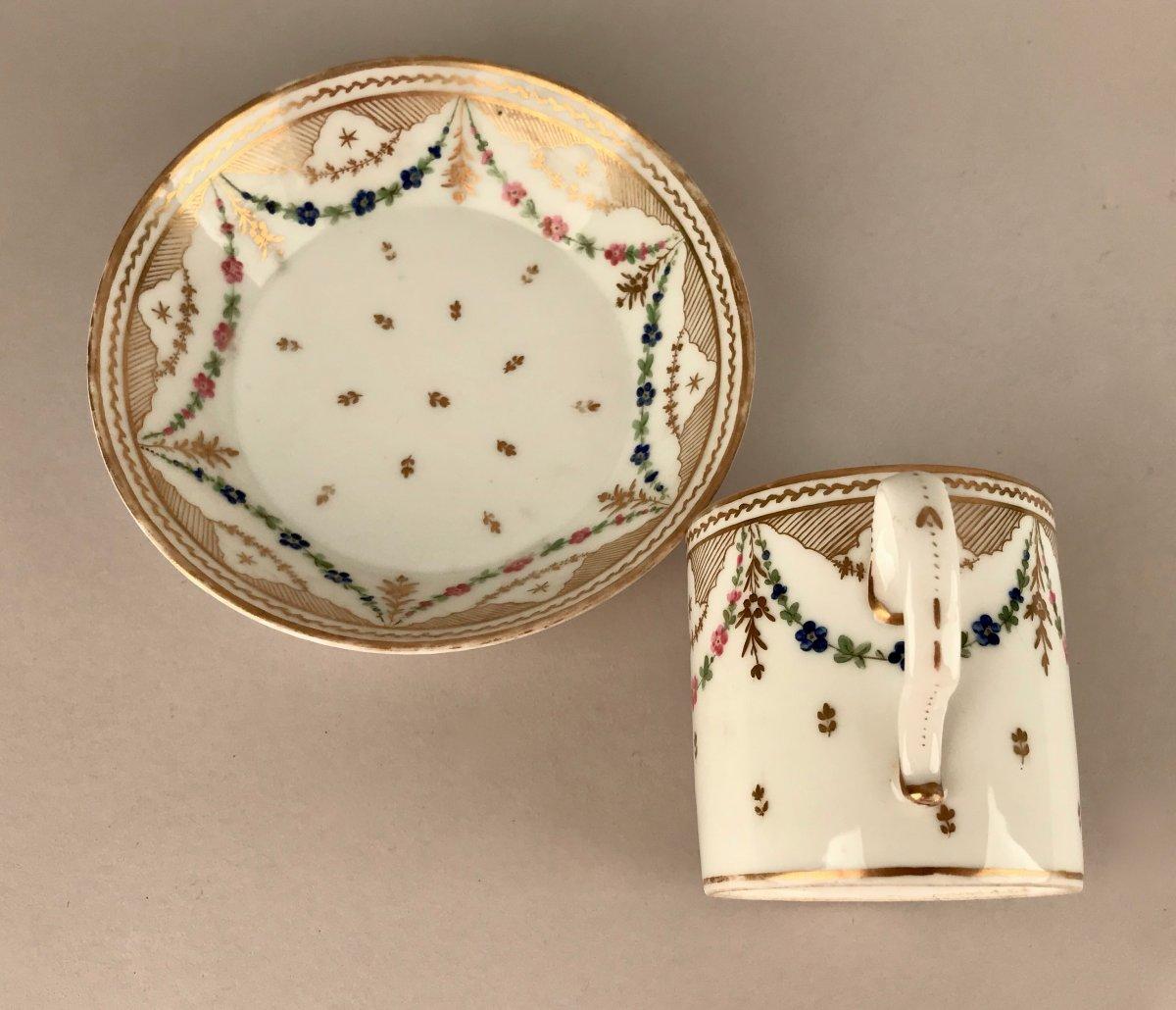 NAST. Tasse En Porcelaine XIXème siècle-photo-4