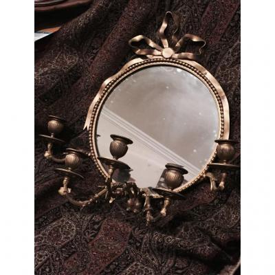 Mirror In Bronze Five Light Bras De Style Louis XVI