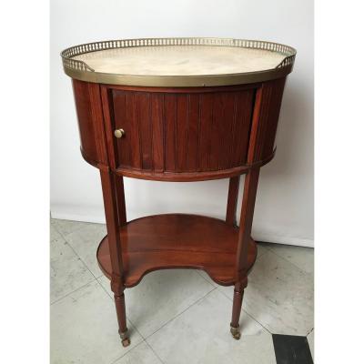 Table Bedside Oval Mahogany Louis XVI