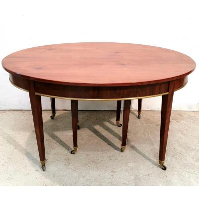 Oval Mahogany Table With Eight Feet, Directoire Period