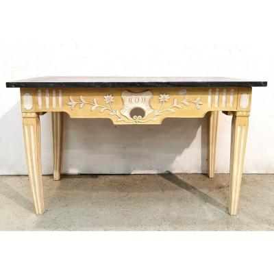 Provencal Console In Walnut Repainted Louis XVI Period Directory