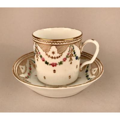 NAST. Tasse En Porcelaine XIXème siècle