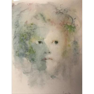 Léonor Fini, Lithographie Visage