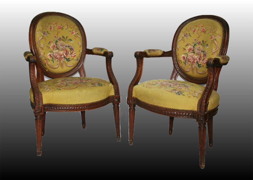 Pair Of Louis XVI Armchairs
