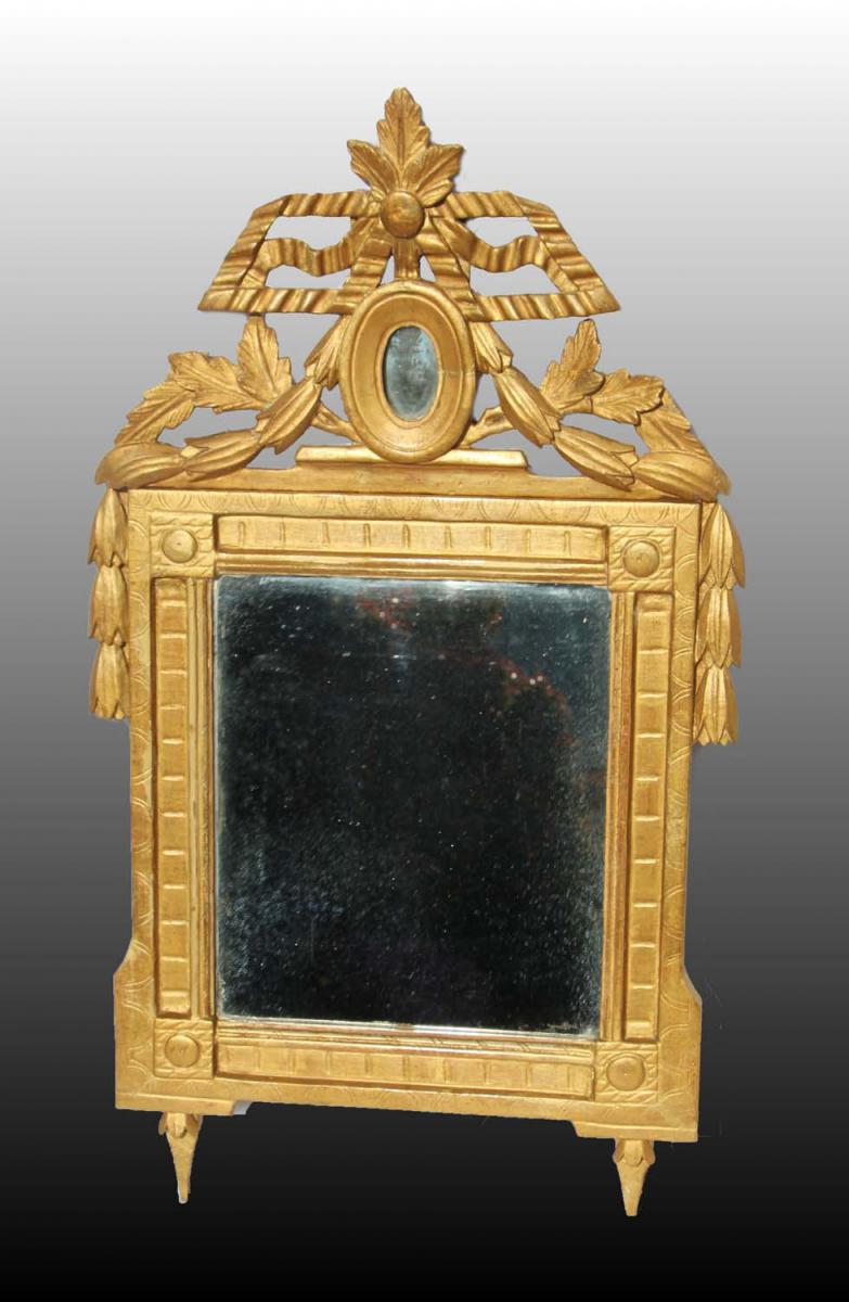 miroir fronton d poque louis xvi miroirs. Black Bedroom Furniture Sets. Home Design Ideas