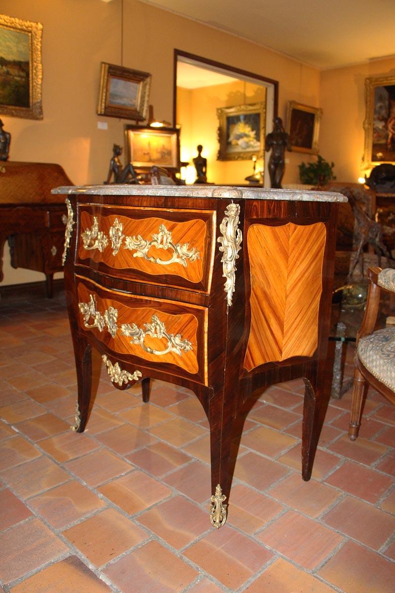 Commode « Sauteuse » D'époque Louis XV-photo-2
