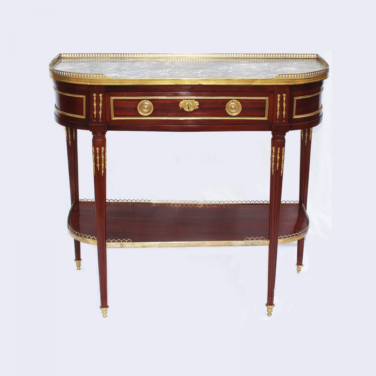 Console D'époque Louis XVI Estampillée J. Caumont.