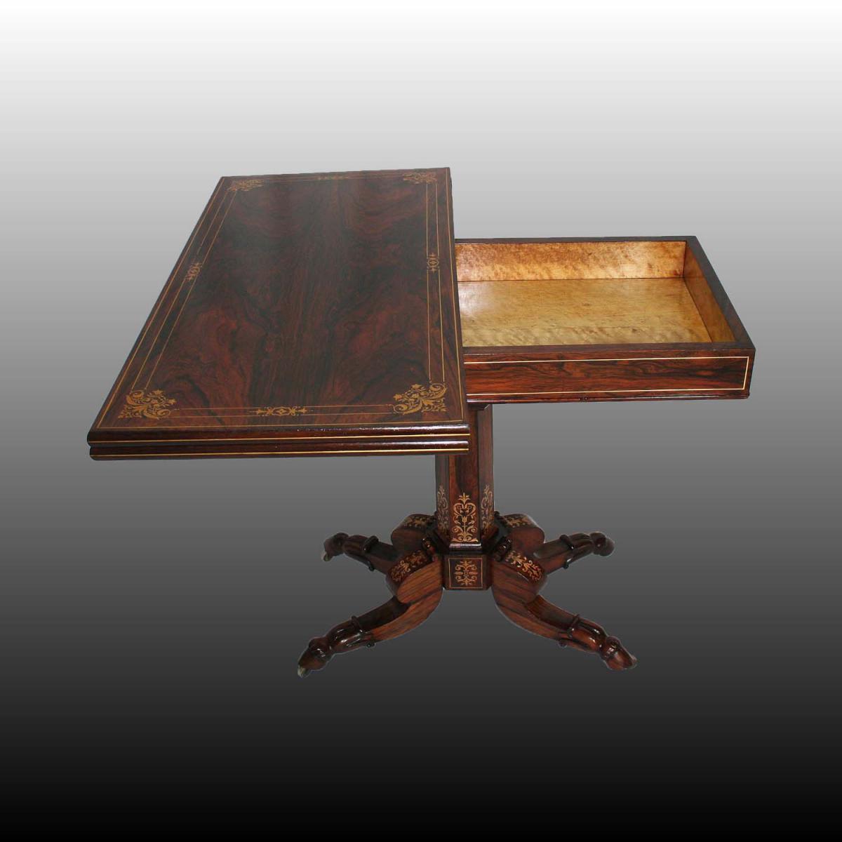 Table à Jeux D'époque Restauration -photo-2