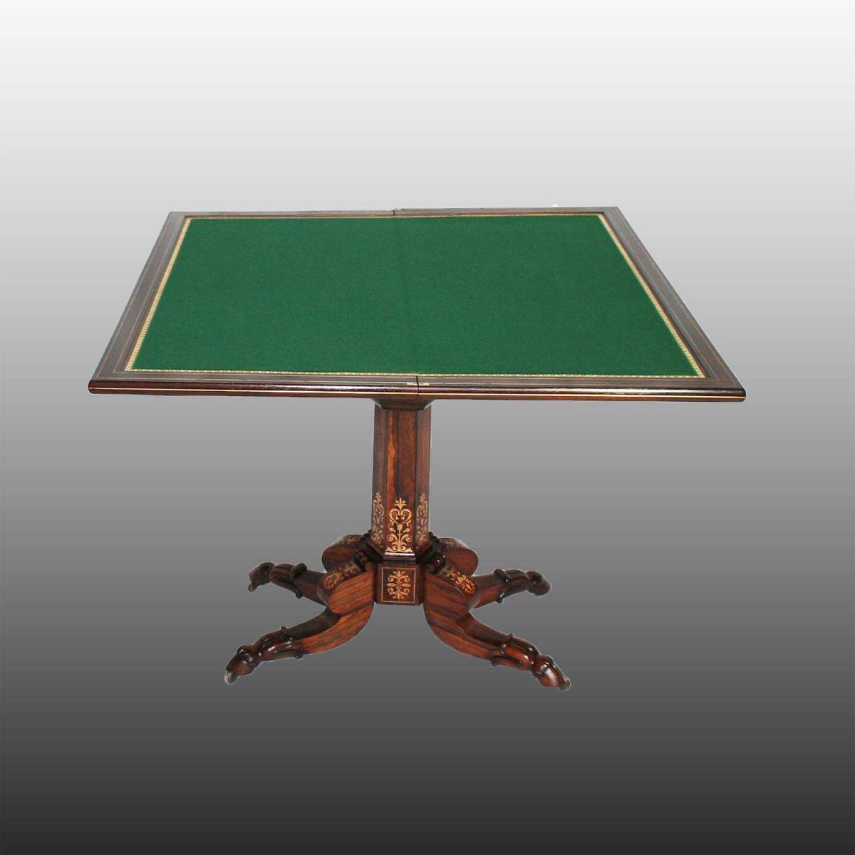 Table à Jeux D'époque Restauration -photo-3