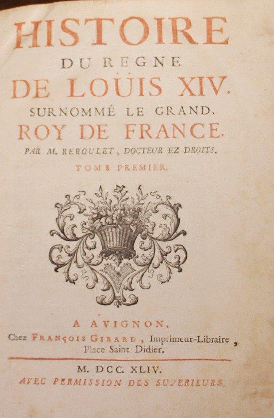 Histoire Du Règne De Louis XIV Surnommé Le Grand, Roy De France-photo-3