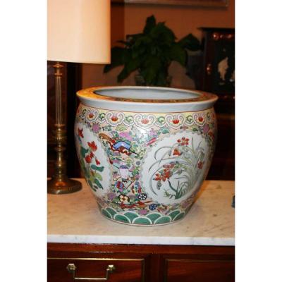 Large Porcelain Fish Vasque