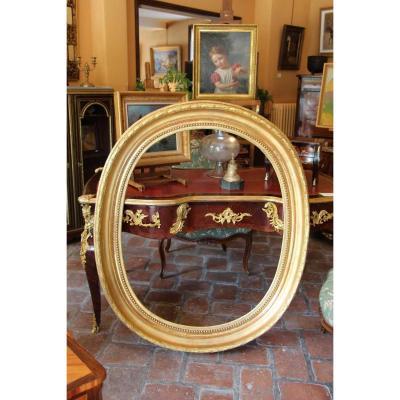 Cadre Ovale d'époque XIXème