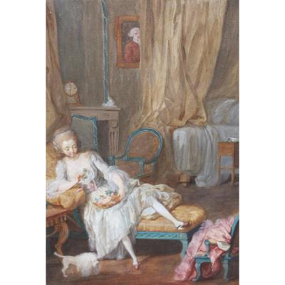 Paire De Gouaches Attribuée à Jacques Charlier (c.1720-1790)
