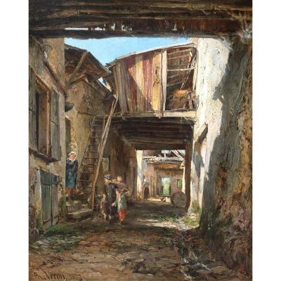 Alexandre Rene Veron (1826-1897) Crécy-en-brie 1873