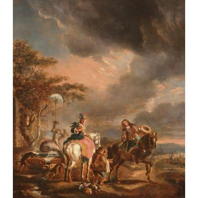 French Or Dutch School In The Style Of Philips Wouwerman (1619-1668)
