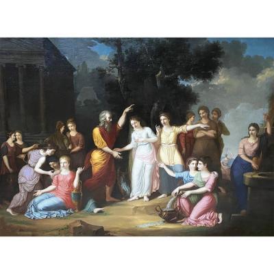 Eliezer And Rebecca German Or Austrian Neoclassical School Circa 1770