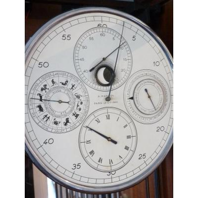 Electro-mechanical Clock With  Calendar