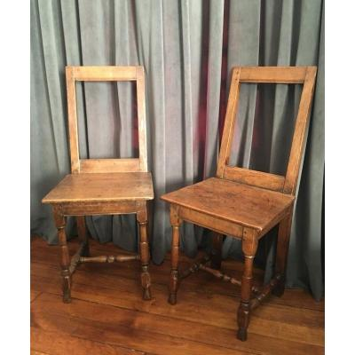 Pair Of French Chairs From Lorraine 17th Century