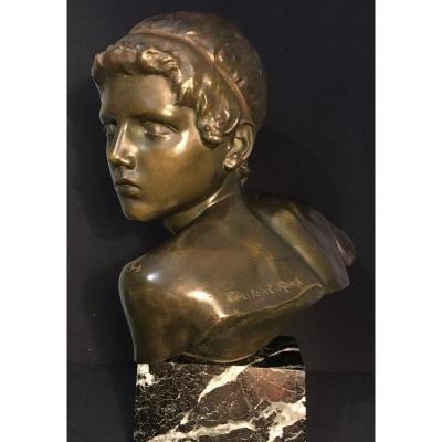 Art Deco Bronze Sculpture Of Young Achilles Constant Roux