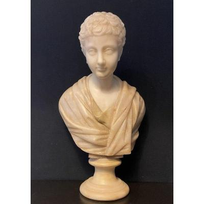 Bust Of A Young Emperor In Marble. 19th Century.