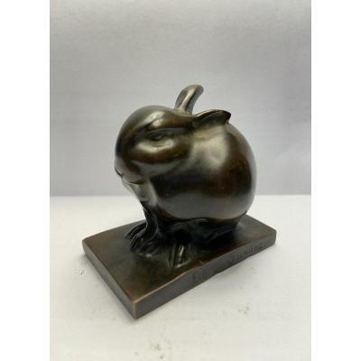 Bronze ''Lapin Bijou'' Sandoz / Susse