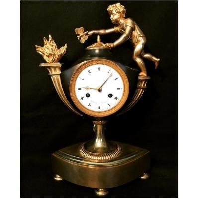"French Empire Clock ""cupid & Butterfly"""