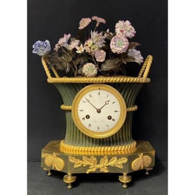 Empire Clock Flowers Basquet