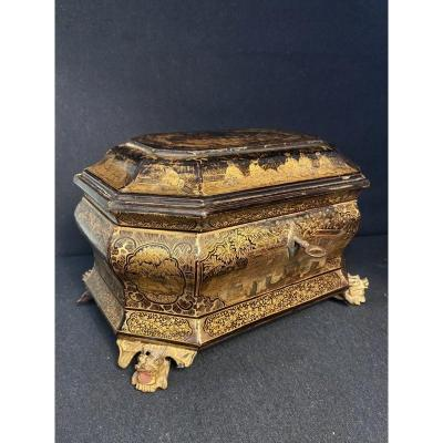 "19th Century Chinese Lacquered ""tea Box"""
