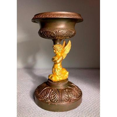 Coupe Angelot Empire (Putto ou Cupidon) Baguier en Bronze