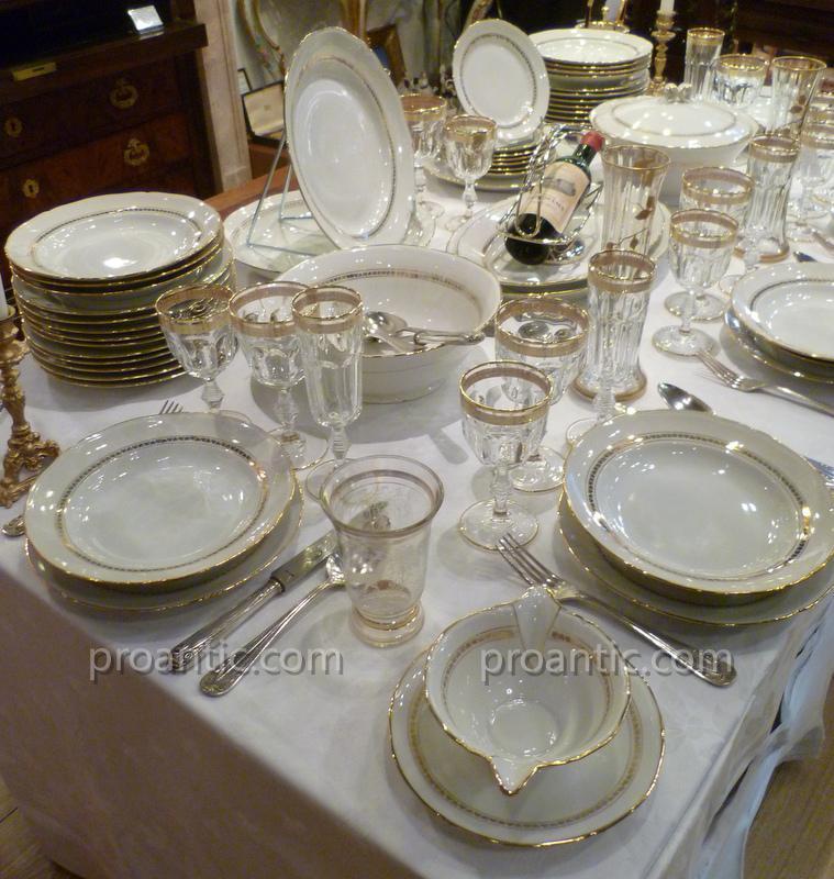 Service de table en porcelaine blanche filet dor - Service de table porcelaine blanche ...