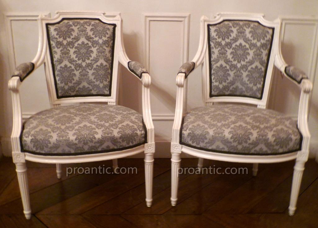 Pair Of Armchairs Louis XVI Style