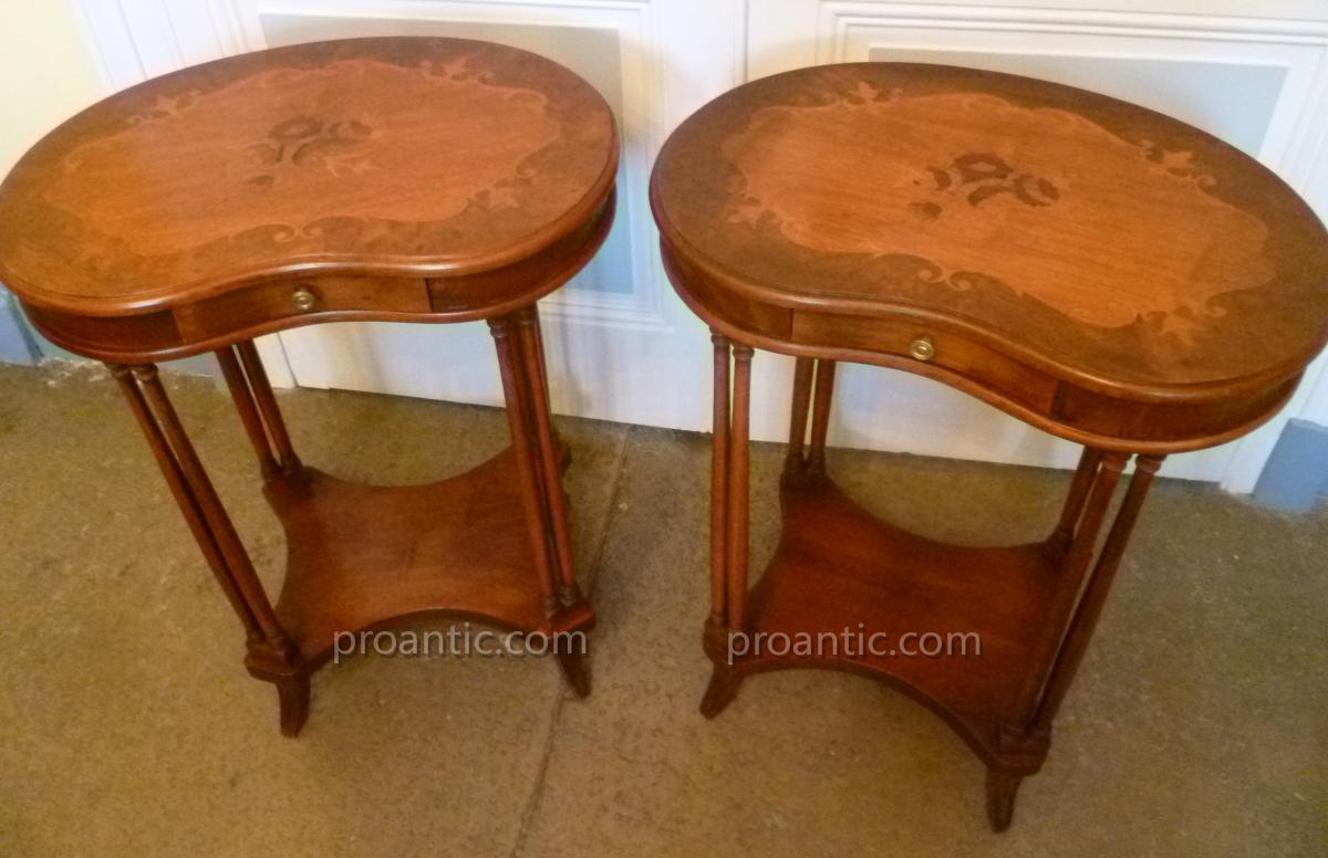 Paire De Table Rognon Style Louis XVI