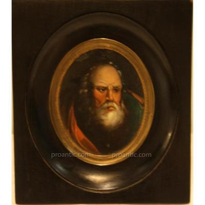 Miniature Portrait Of An Old Man Nineteenth