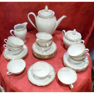 Porcelain Coffee Set Décor Doré
