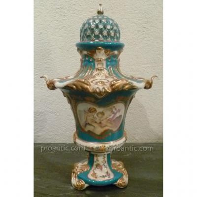 Vase Covered Porcelain From Paris XIX °
