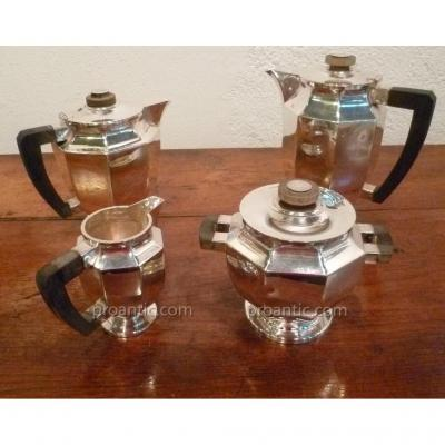 Service à Café Et à Thé En Métal Argenté