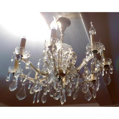 Chandelier Crystal And Gilt Bronze XIX