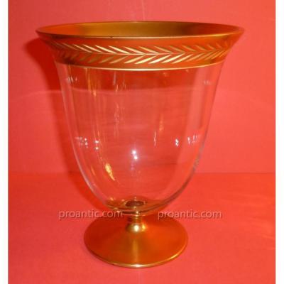 Petit Vase Bordure Doré
