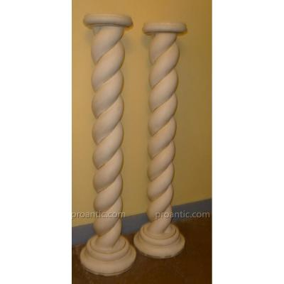 Pair Of Stucco Columns
