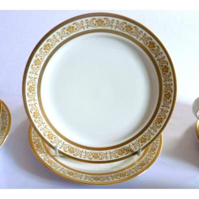 Porcelain Table Service In Golden Decor