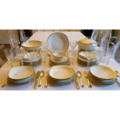 Porcelain Table Service With Golden Decor