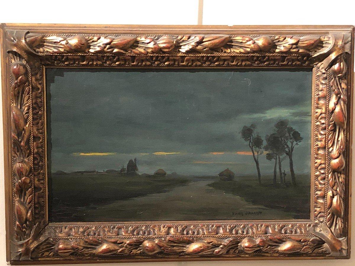 Paul Jamot (1863 - 1939) - Crépuscule Dans Les Flandres, Circa 1900
