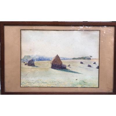 Alfred Marie Le Petit (1876-1953) Les Meules En Normandie, 1895