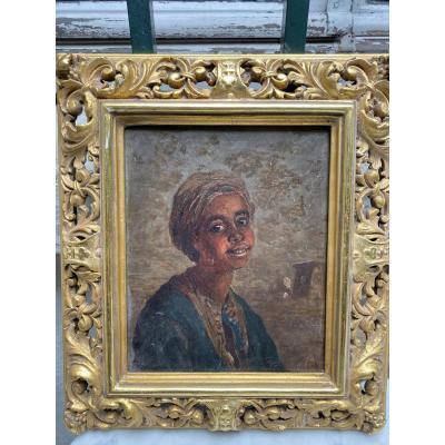 Paul Rudolf Linke (1844-1917) Jeune Arabe Tableau Orientaliste Vers 1880