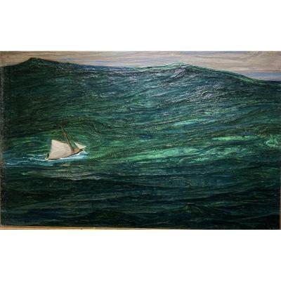 Auguste Matisse (1866-1931) Bréhat -  Dans La Tempête, Circa 1920